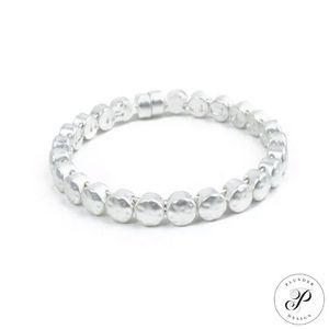 Plunder Design Sheridan Silver Magnetic Bracelet.